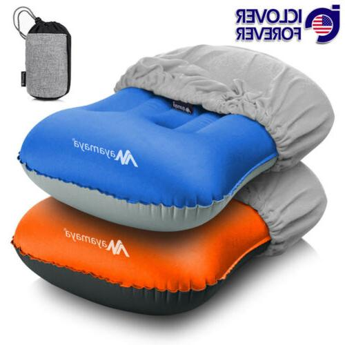inflatable travel air neck pillow camping sleeping