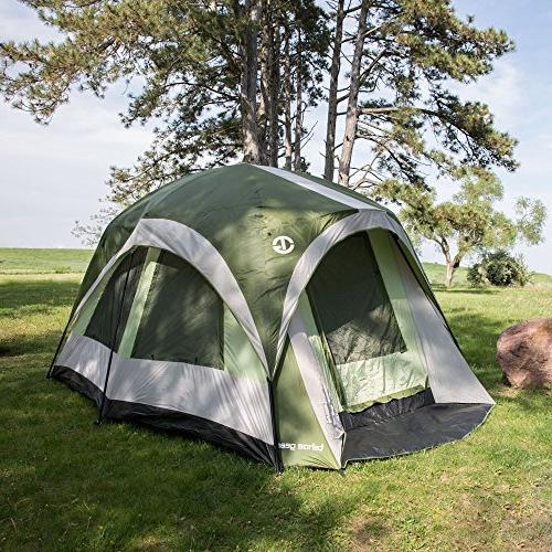 Tahoe Gear Jasper 7 Person Family Cabin Dome Tent