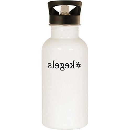 #kegels - Stainless Steel 20oz Road Ready Water Bottle, Whit