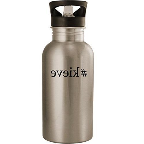 #kieve - Stainless Steel 20oz Road Ready Water Bottle, Silve