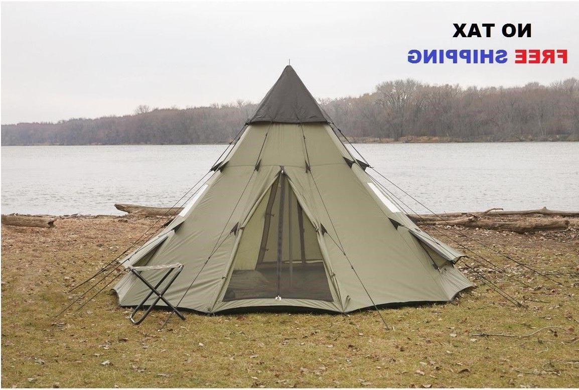 large camping tent 6 person family teepee