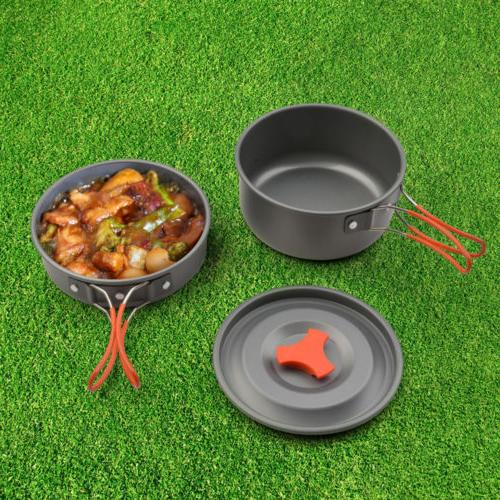 8pcs weight Camping Backpacking Cookware Survival