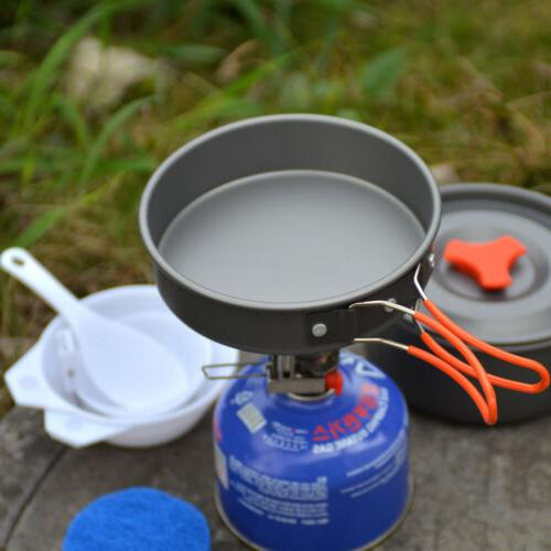 8pcs Backpacking Cookware Survival Emergency kits