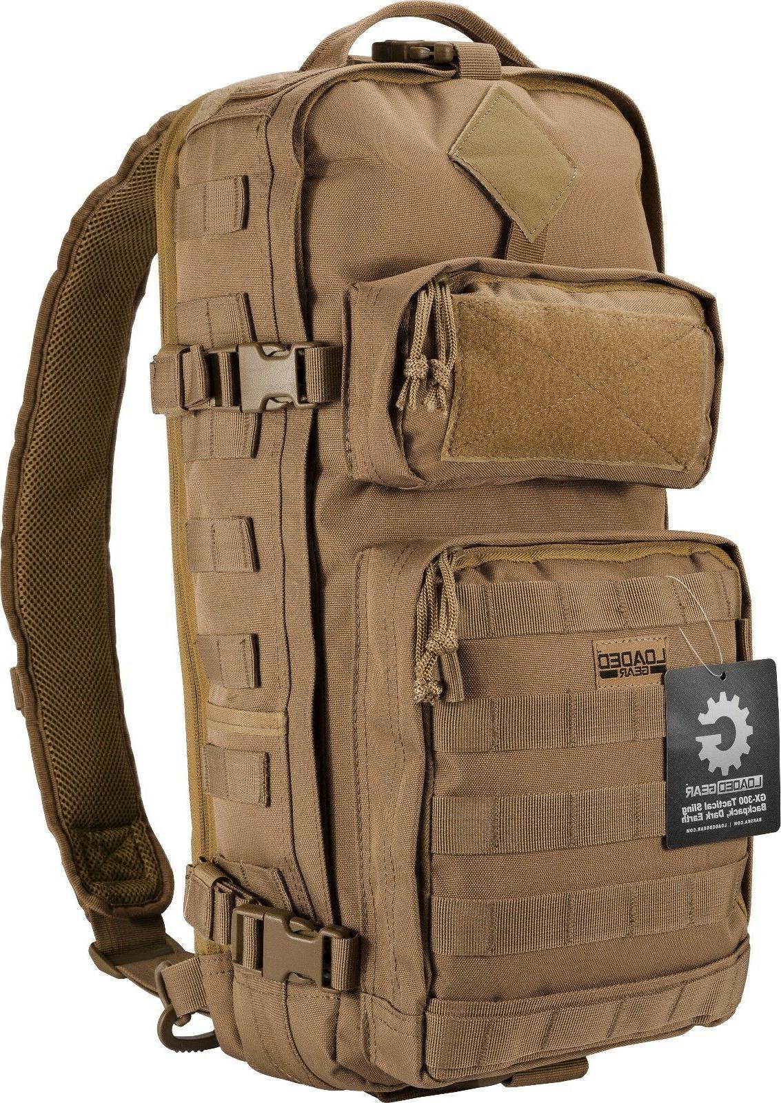 Barska Loaded Gear GX-300 Tactical Sling Bckpck - Dark Earth