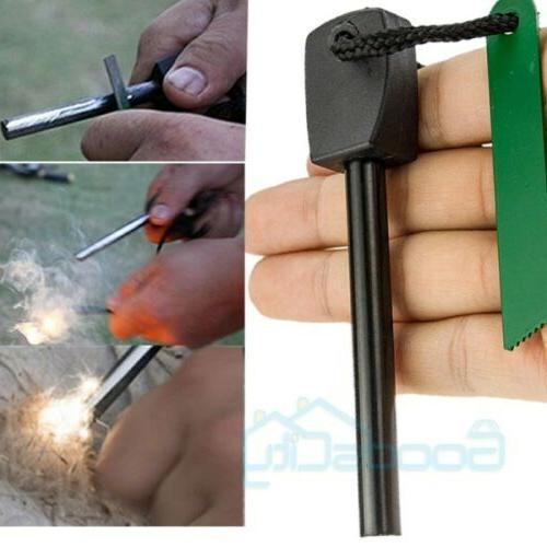 Lots Fire Starter Rod Lighter Survival Gear
