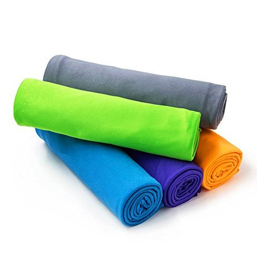 4monster Towel, Towel, Camping Towel, Backpacking Hiking Towel, Drying Super Absorbent Travel Case,