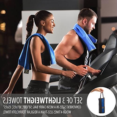 Set Towels Dry — Gym Antimicrobial Shammy Outdoor Ultra Absorbent Body, Face, & — Mesh Bag