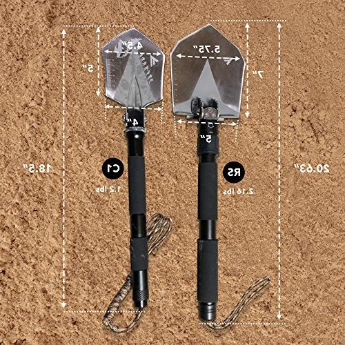 FiveJoy Military Multitool - Versatile Essential Scout, Hiking, Backpacking, Cycling, Dry for Trenching,