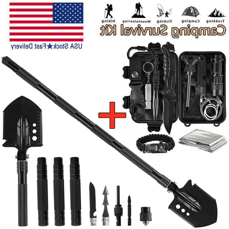 military folding shovel survival gear kit outdoor