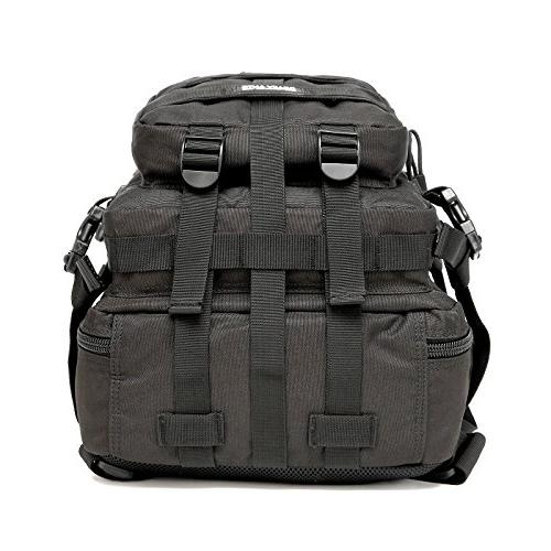CRAZY Backpack Waterproof Outdoor for Camping Hiking,Black 2 Detachable