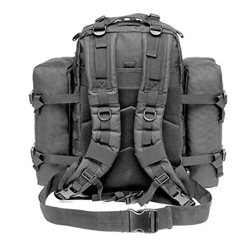 CRAZY ANTS Military Tactical Backpack Waterproof Outdoor Gear for 2 Packs
