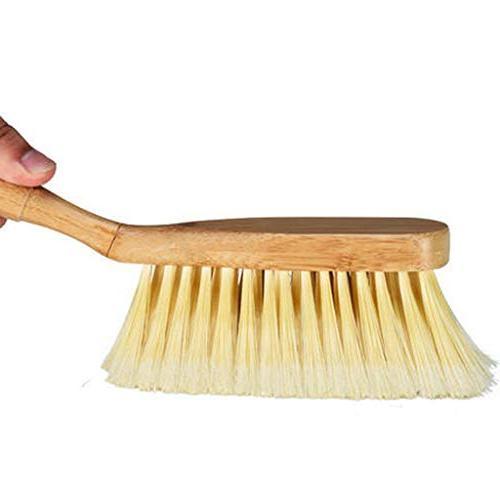 Feccile Cleaning Small Broom Dustpan Set Brush Soft Bristle Utility Comfort Grip Multi Purpose Home Pet Scrub Tools