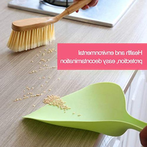 Feccile Mini Sweep Cleaning Brush Small Dustpan Soft Bristle Utility Grip Multi Hand Home Pet Cage Scrub Tools