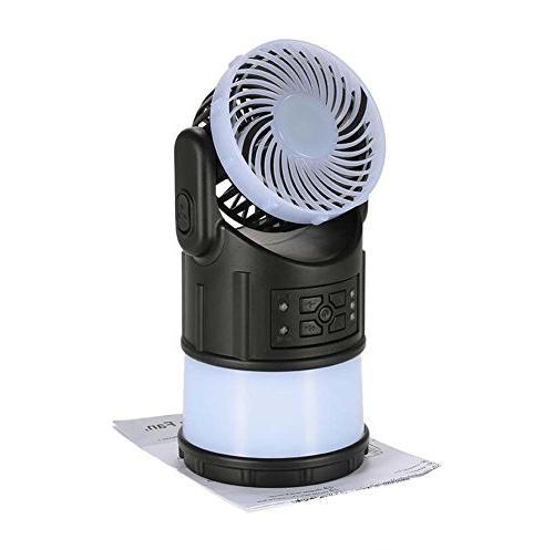 mini fan lamp camping