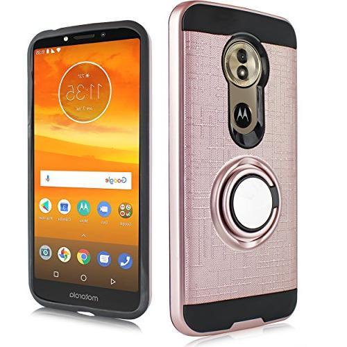 G Phone Mount Ready Kickstand Slim Shock Cover Moto G6 5.7 Inch