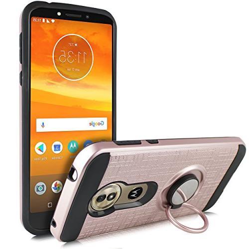 Moto G6 Case, G Mount Grip Kickstand Slim Shock Cover Motorola Moto 5.7 Inch