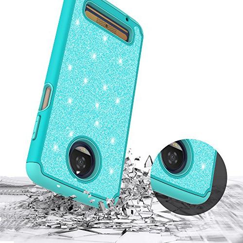 For Z3 PLAY, Z3 FORCE, Play Glitter Dual Layer Protective With