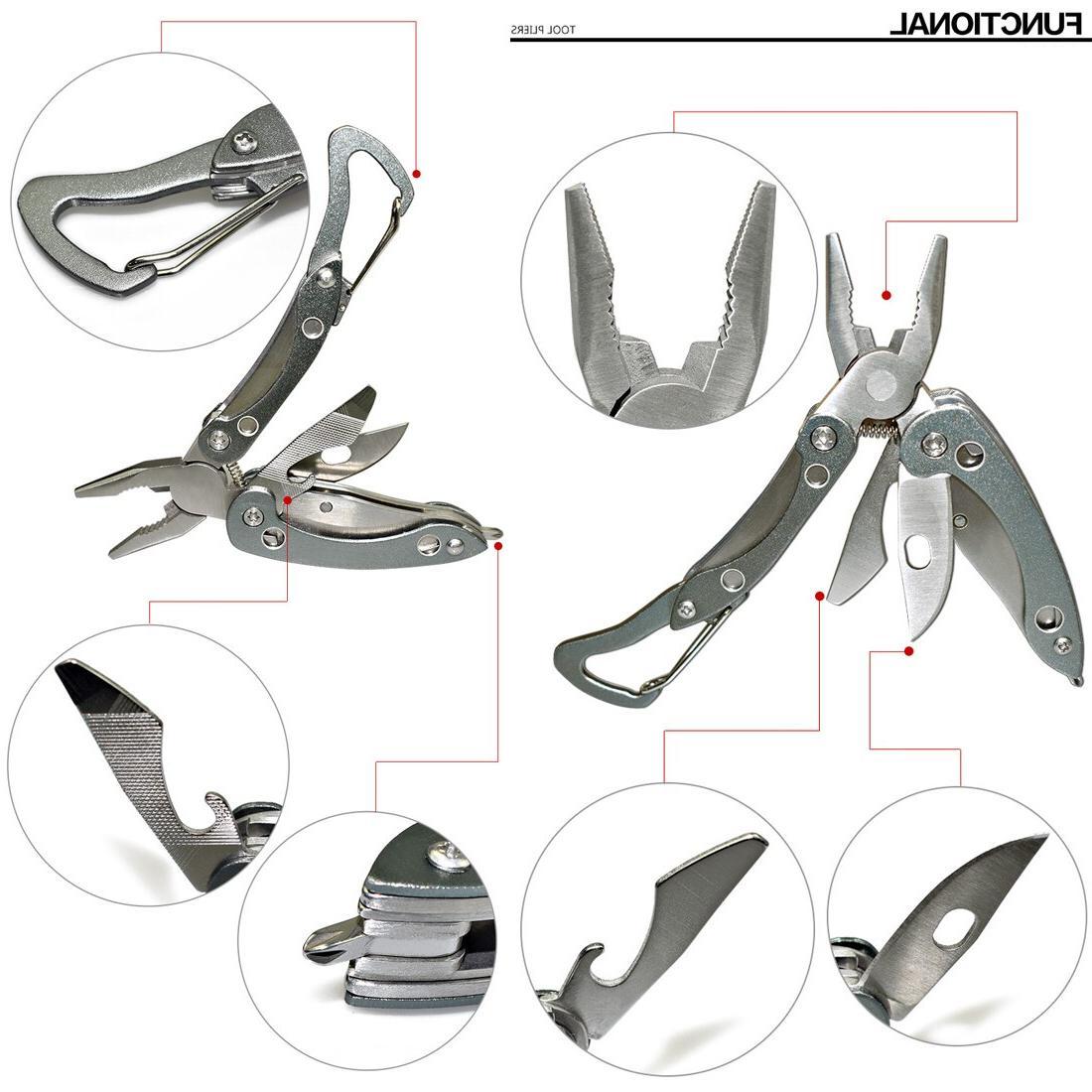 New Brand <font><b>Camping</b></font> Tool Tactical <font><b>Folding</b></font> Knife Stainless Travel Kit Pliers