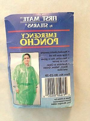 Green One-Size Adult STEARNS Unisex Poncho Rain Gear