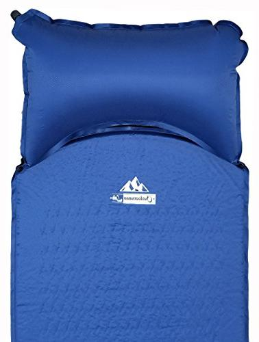 Outdoorsman Lab Lightweight Sleeping Pad with Pillow Camping,