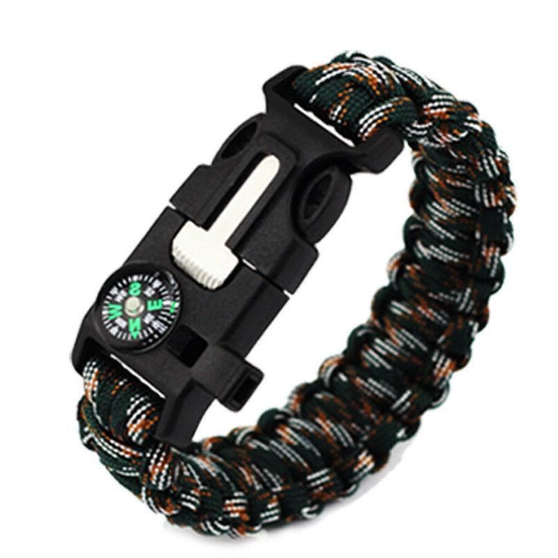 PARACORD FLINT, STARTER, WHISTLE CAMPING