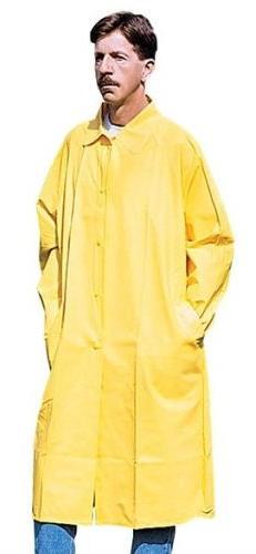 Stansport PVC Raincoat Cloth Back, Yellow, XX-Large