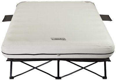 queen airbed folding cot with side tables