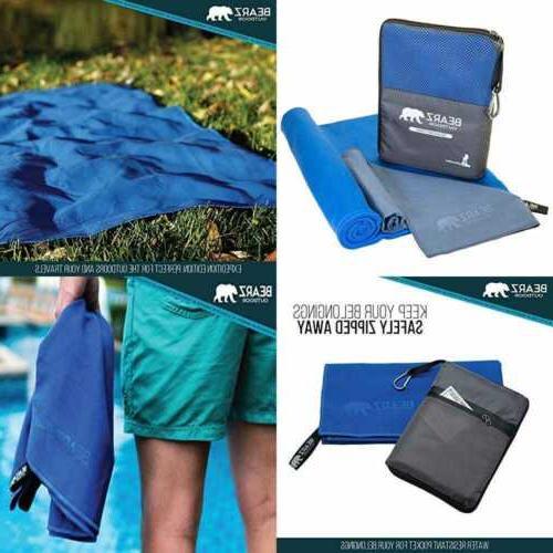 quick dry microfiber towel 2 pack camping