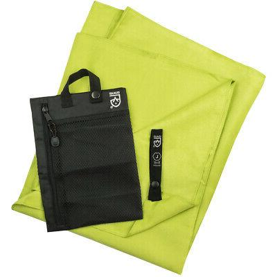 quick dry microfiber travel towel nav green