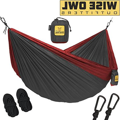Wise Owl Outfitters Single 1-Person Camping Hammock Charcoal