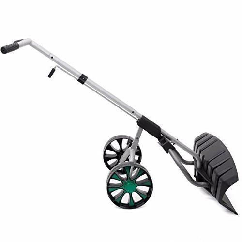 Snow Blade Wheels Plow Pusher Walk Behind