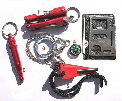 SOS Outdoor Camping Gear Tools Box Set