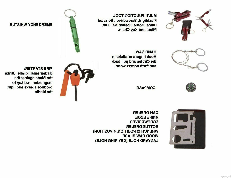 SOS Camping Survival Emergency Gear Box Set