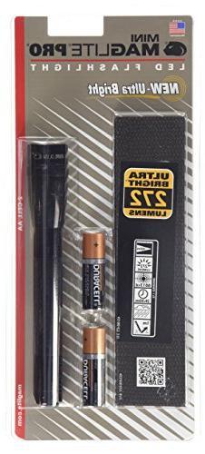 Maglite SP2P01H Mini PRO LED 2Cell AA Flashlight, Black