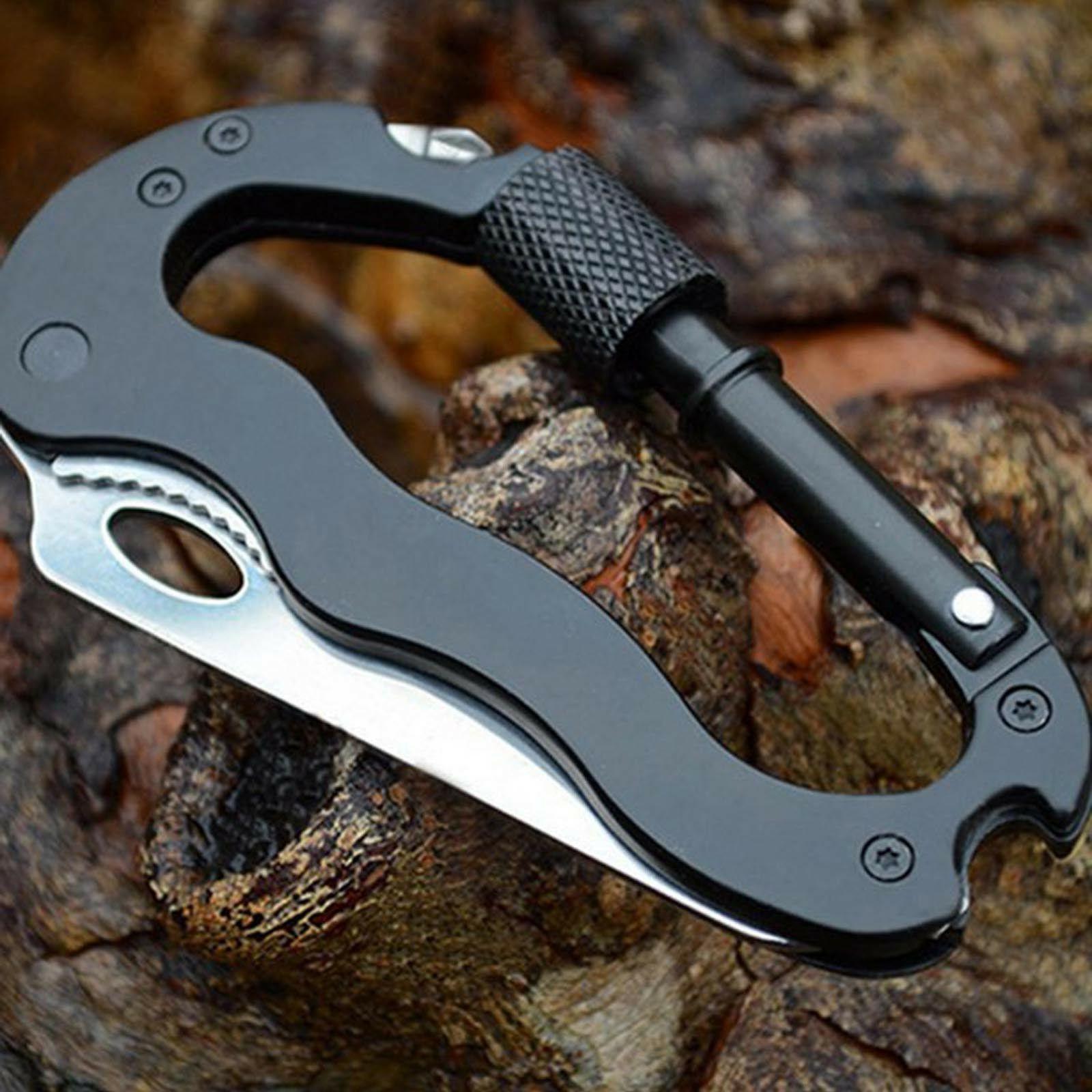 survival camping edc multi tool gear carabiner