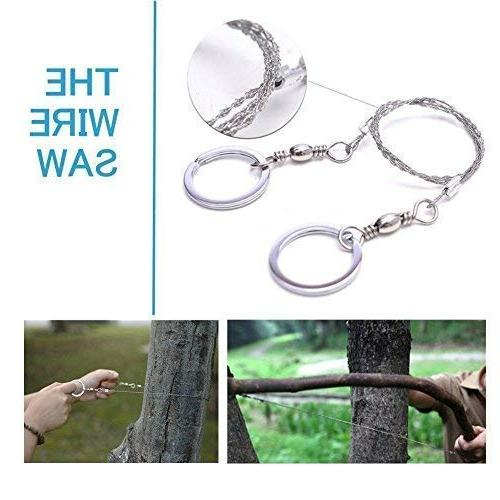 Survival in 1- Outdoor Emergency SOS Wilderness/Trip/Cars/Hiking/Camping gear Saw, Blanket, Flashlight, Tactical Clip
