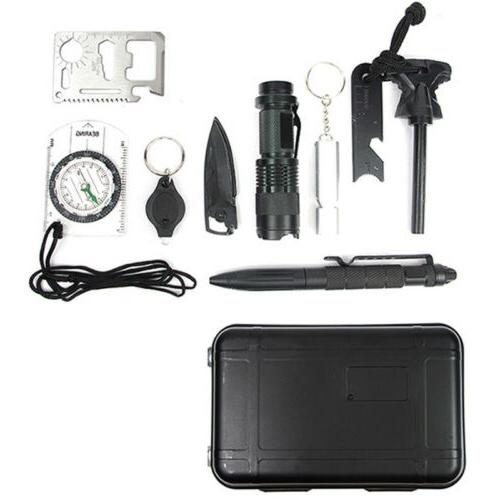 Survival Gear Kits 10-in-1 Outdoor Survive Tool Set