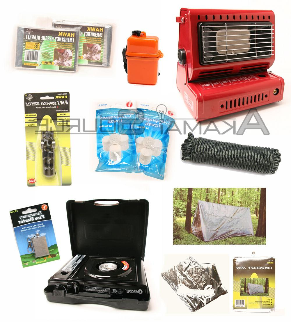 Survival Emergency Camping Gear Butane Heater Tent Prep