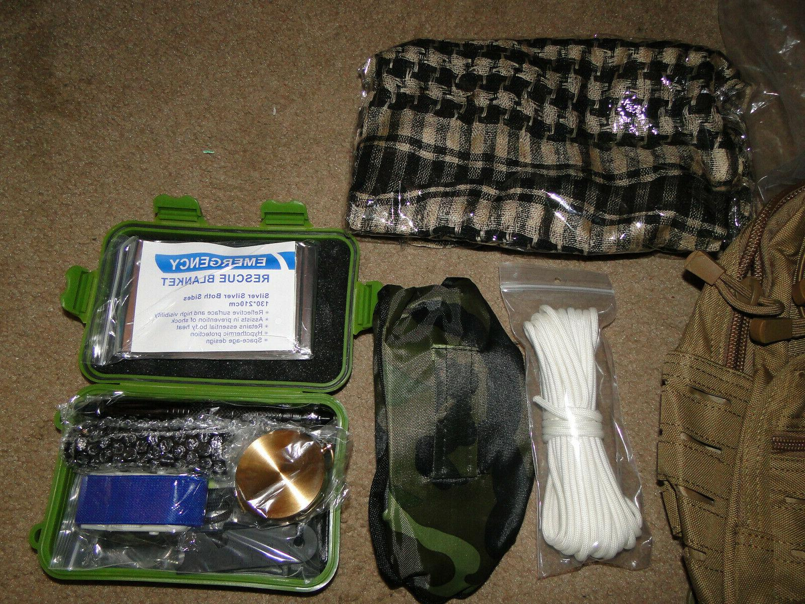Survival Kit Camping Military Backpack Emergency BY TERRATAC