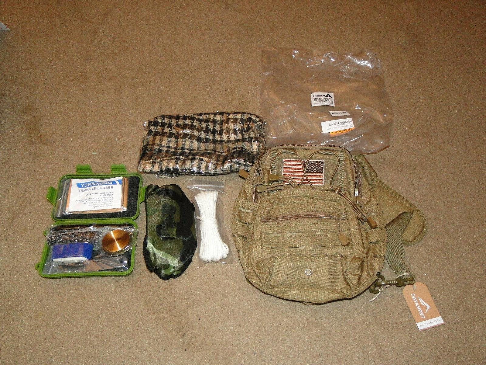 survival kit outdoor camping military backpack emergency