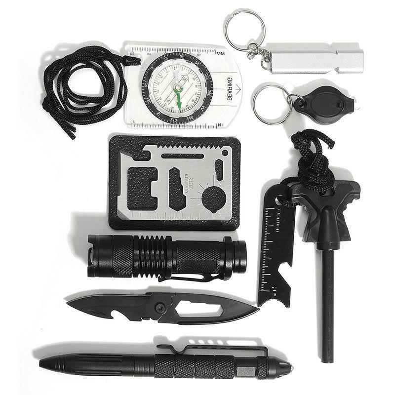 Survival Kit in 1 Emergency Outdoor Military EDC Gear
