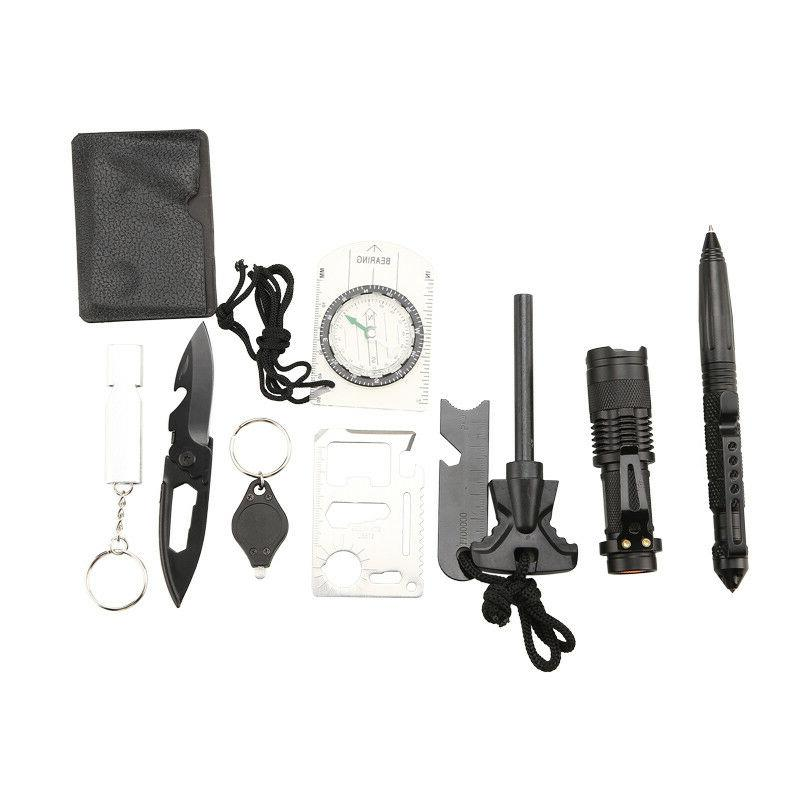 Survival Tools Kit 10 in Tactical Emergency Outdoor Gear