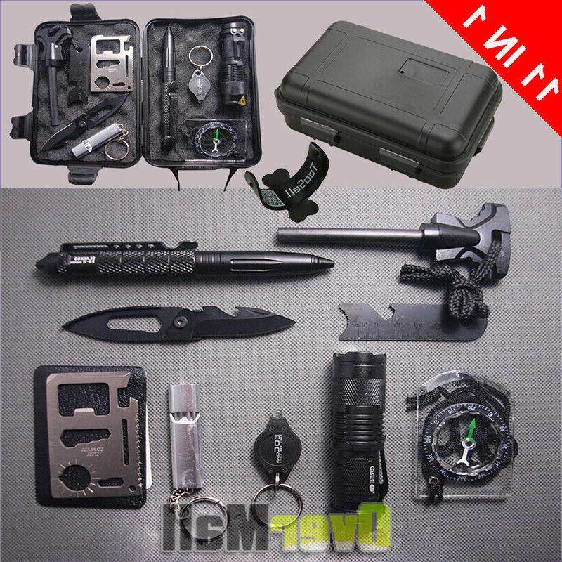 survival tools kit 10 in 1 tactical