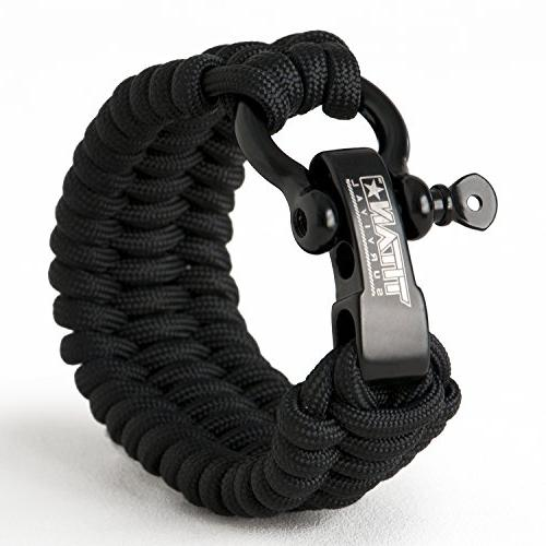 survivorcord bracelet black survival