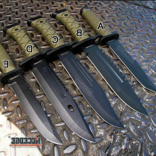 """12""""-13"""" TACTICAL FIXED BLADE JUNGLE HUNTING KNIFE CAMPING GE"""