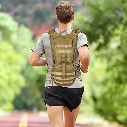 MARCHWAY Molle Hydration Pack Backpack with TPU Water Daypack for Running,