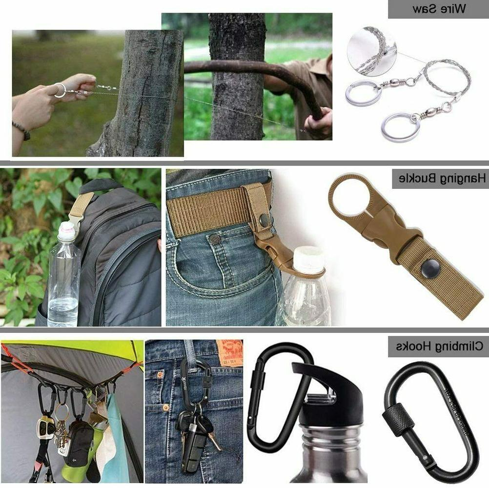 Outdoor Survival Kit in 1 Camping Hunting SOS