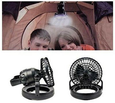 Tent Fan Lights LED Camping Gear Equipment Outdoor Portable