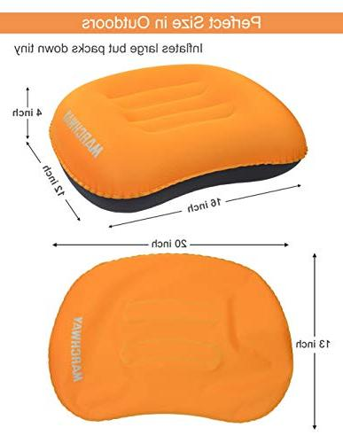 MARCHWAY Camping Pillow, Soft Portable for and Support