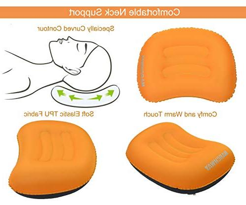 MARCHWAY Compact Inflatable Camping Soft Compressible Portable for Hiking, Sleep and Car Lumbar Support